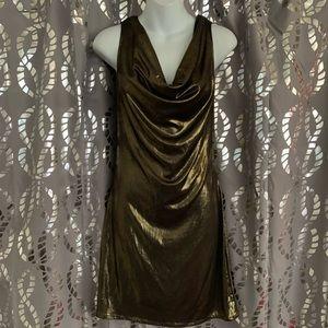 Vintage A.B.S Collection gold mini dress 💛